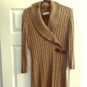 Women's Cable Knit Sweater Dress